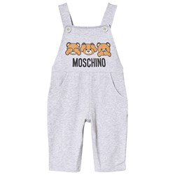 Moschino Kid-Teen Grey Bear Jersey Overalls