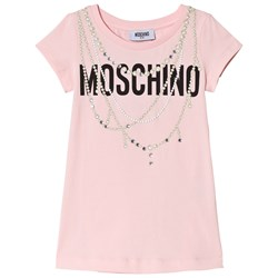 Moschino Kid-Teen Pink Pearl Necklace and Diamante Tunic (Mini Me)