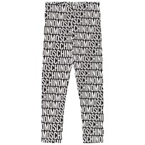 Moschino Kid-Teen Black Logo Print Leggings 83190