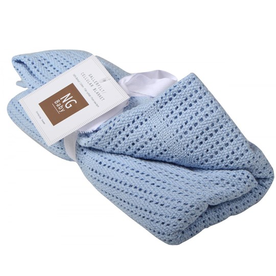 NG Baby Cellular Blanket Blue Blue