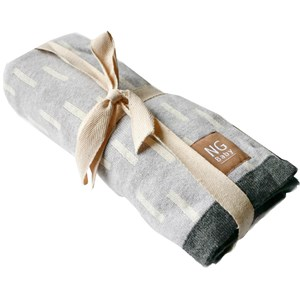 Image of NG Baby Cotton Blanket Grey Line (3022921445)