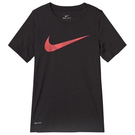 NIKE Black Nike Short Sleeve Leg GFX Top 010