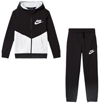 NIKE Black and White NSW CORE Track Suit 011