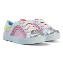 Sophia Webster Mini Pink Glitter Riko Low Top Sneaker Pink Glitter