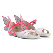 Sophia Webster Mini Pink Glitter Chiara Butterfly Mini Shoes Pink Glitter