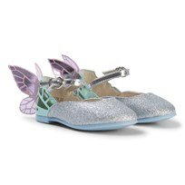 Sophia Webster Mini Silver Glitter and Pastel Chiara Mini Shoes Silver Glitter & Pastel