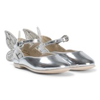 Sophia Webster Mini Silver Embroidered Butterfly Mini Shoes Silver