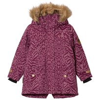 Ticket to heaven Jacket Mary With Detachable Hood Allover Amaranth Animalier Amaranth Animalier