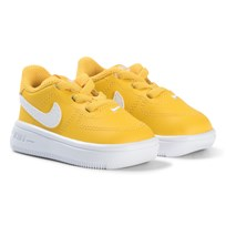 NIKE Yellow Air Force 1 Infants Trainers Yellow/White