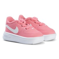 NIKE Pink Air Force 1 Infants Trainers CORAL CHALK WHITE