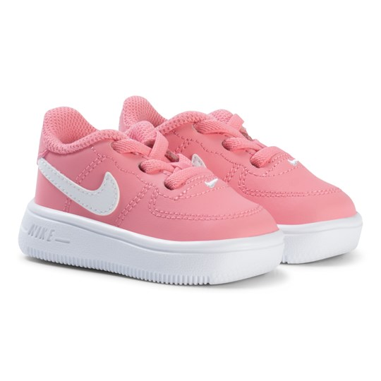 NIKE Air Force 1 Infant Sneakers Pink CORAL CHALK WHITE