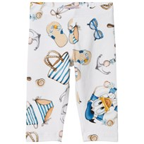 Monnalisa White Donald Duck Sailor Print Leggings 9954