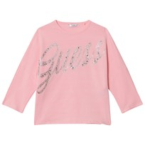 Guess Pink Batwing Jewelled Logo Tee CAPK