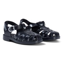 Armani Junior Navy Logo Ruber Jelly Shoes 06935