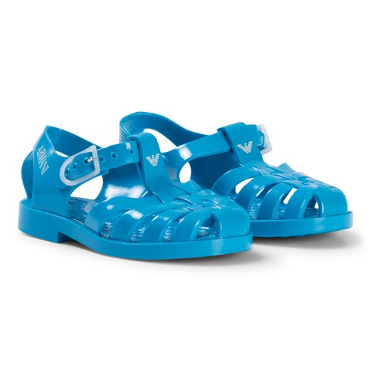 Emporio Armani Turquoise Logo Ruber Jelly Shoes 00032