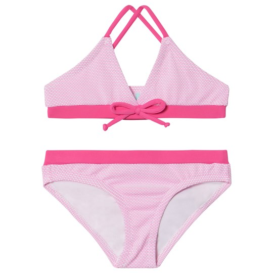 Melissa Odabash Pink with Hot Pink Trim Sky Triangle Bikini PINK SCALES