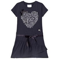 Le Chic Navy Heart Print Jersey Dress 190
