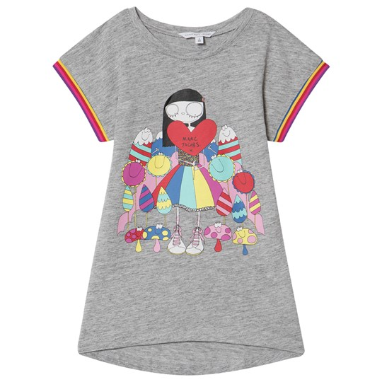Little Marc Jacobs Miss Marc and Sweeties Print Jersey Klänning Grey Marl A35