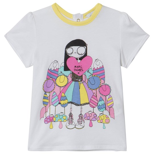 Little Marc Jacobs Miss Marc and Sweeties Print T-shirt Vit 10B