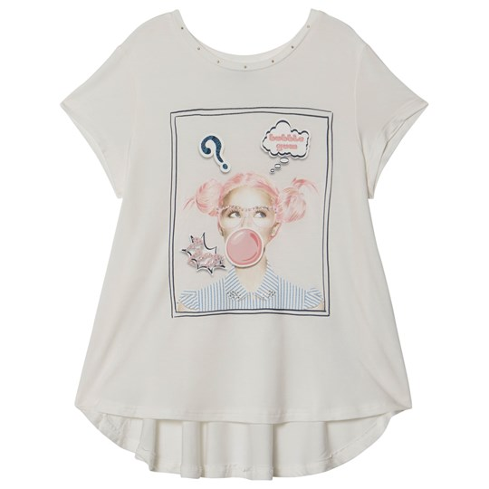 Mayoral White Bubblegum Girl Print Tee 24