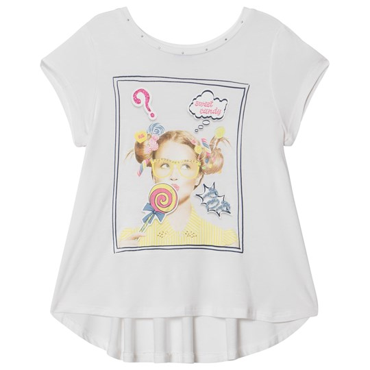 Mayoral White Candy Girl Print Tee 25