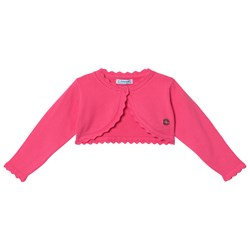Mayoral Pink Basic Knit Cardigan