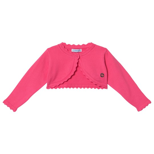 Mayoral Pink Basic Knit Cardigan 88