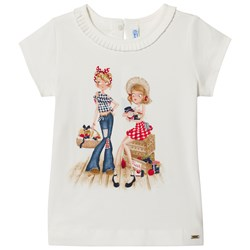 Mayoral Farm Friends Print T-shirt Gräddvit