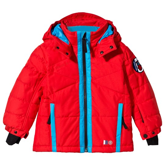 Poivre Blanc Red Padded Ski Jacket with Key Ring ROCKET RED 2146