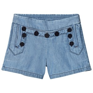 Image of Chloé Blue Engraved Buttons Sailor Denim Short 4 years (2946007223)