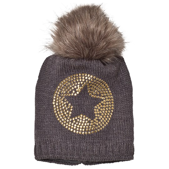 Ticket to heaven Bobble Hat Knit Anthrazit Purple