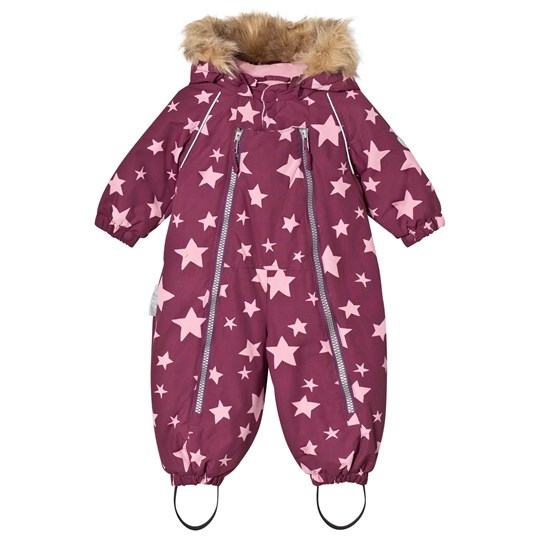 Ticket to heaven Snowsuit Baggie With Detachable Hood Allover Amaranth Stars Amaranth Stars