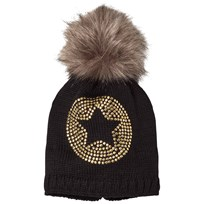 Ticket to heaven Bobble Hat Knit Black Black
