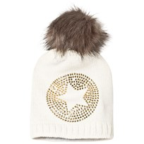 Ticket to heaven Bobble Hat Knit White White