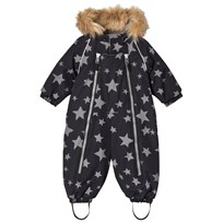 Ticket to heaven Snowsuit Baggie With Detachable Hood Allover Jet Black Stars Jet Black Stars