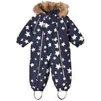 Ticket to heaven Snowsuit Baggie With Detachable Hood Allover Winter White Stars Winter White Stars