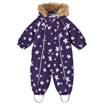 Ticket to heaven Snowsuit Baggie With Detachable Hood Allover Parachute Purple Stars Parachute Purple Stars