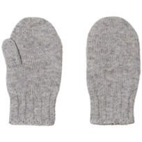 United Colors of Benetton Wool Mittens Light Grey Light Grey