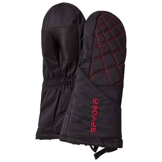 Spyder Black and Red Mini Overweb Ski Mittens 001 BLK/RED