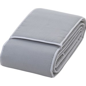 Image of rattstart Stripes Bed Bumper for Crib Bed Grey (3022493261)