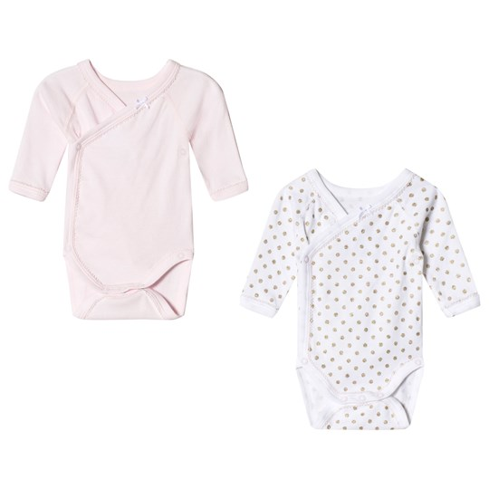 Petit Bateau - Pink and White Baby Bodies (2 Pack) - Babyshop.com 10fbe1f15c0