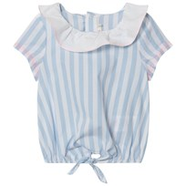 Billieblush Blue and White Collared Blouse N48