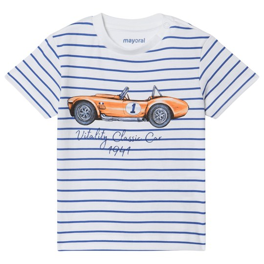 Mayoral Blue and White Classic Car Print Tee 59