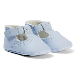 Mayoral Sky Blue Brougue Crib Shoes
