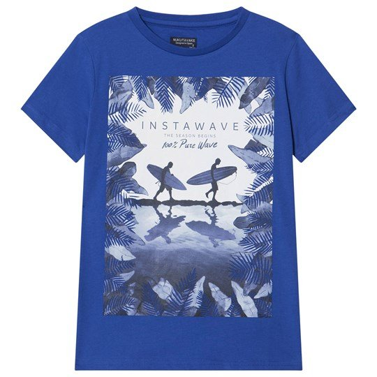 Mayoral Blue Surfer Scene Graphic Print Tee 15