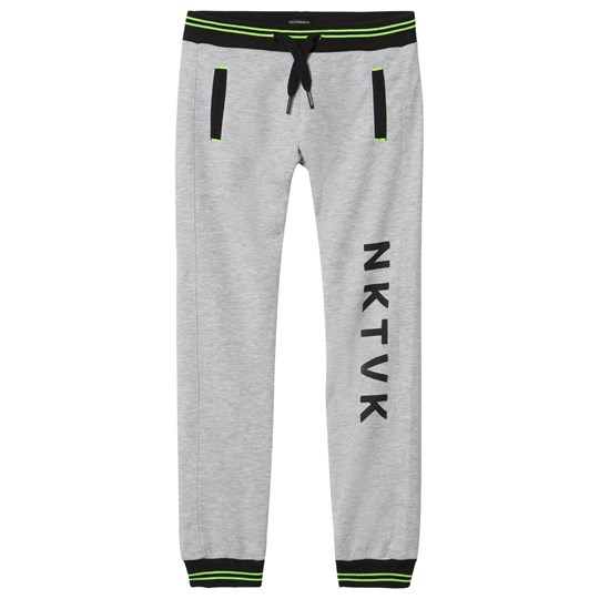 Mayoral Grey Sweatpants with Lime Trim 80