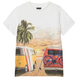 Mayoral Cream Mini Van Graphic Tee