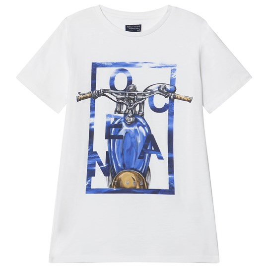 Mayoral White with Blue Motor Cycle Graphic Tee 57