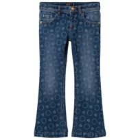 Young Versace Bolli All Over Print Denim Flare Jeans Y3690