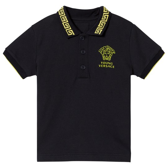 Versace Navy Medusa Infants Polo Top Y3756